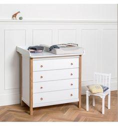 Cómoda color blanco Wood OLIVER de diseño para habitaciones infantiles