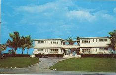 Delray Beach Florida Sunny Surf Apartments Vintage Postcard Unused Delray Beach Florida Delray Beach Florida Vacation Spots