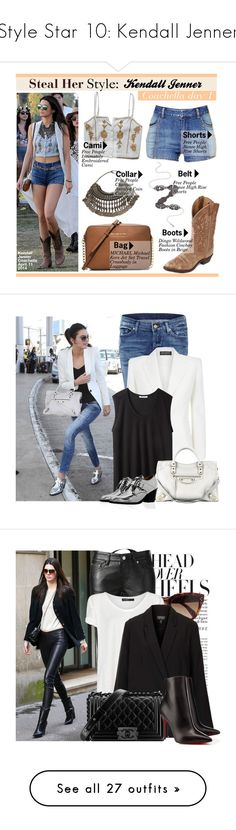 """""""Style Star 10: Kendall Jenner"""" by glamye ❤ liked on Polyvore featuring Kendall + Kylie, Free People, MICHAEL Michael Kors, Stealherstyle, celebstyle, musicfestival, kendalljenner, Coachella2014, 7 For All Mankind and Balmain"""