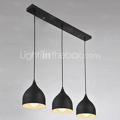 3 Lights E26/E27 Pendant Light , Modern/Contemporary for Living Room / Bedroom / Dining Room / Kitchen / Study 2016 - €116.41