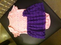 Ruffle fabric skirt onesie Sewing Ruffles, Ruffle Fabric, Sewing Projects, Onesies, Summer Dresses, Skirts, Crafts, Fashion, Moda