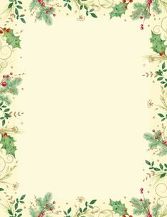 Holly Branches Letterhead - Click Image to Close