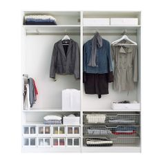 Schuhschrank ikea pax  KOMPLEMENT Pull-out clothes rail, white | Pax wardrobe, Ikea and ...