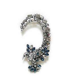 """Our exquisite bejeweled earpiece """"Hummingbird"""" only a few left ladies!  Shop this look today at http://prettyiinpynk.com"""