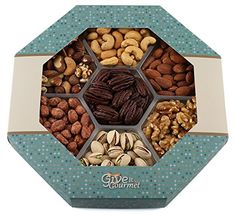 GIVE IT GOURMET Roasted Healthy Nuts Gift Basket Large Tray -- Click image to review more details.
