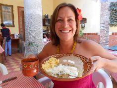 Chilaquiles verdes con cafe de olla...heaven in Tlaquepaque!