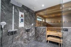 Moderni kylpyhuone Sauna Room, Walk In Robe, Sports Complex, Master Bath, Tiles, Shabby Chic, Bathtub, Sauna Ideas, Interior Design
