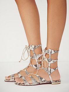 Schutz Lina Lace Up Sandal