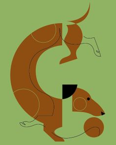 GreenBox Art 'Mod Dog Dachshund' by Eleanor Grosch Graphic Art on Wrapped Canvas