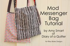 Diary of a Quilter - a quilt blog: Easy Mod Messenger Bag tutorial