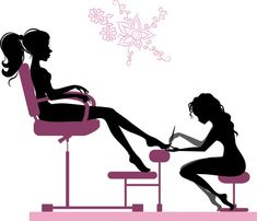 Illustration about Silhouette of girl making pedicure in beauty salon. Illustration of nail, freshness, beauty - 47189875 Nail Salon Design, Nail Salon Decor, Manicure Simple, Nail Logo, Nail Art Studio, Manicure Y Pedicure, Black Pedicure, Girl Silhouette, Facial Cream