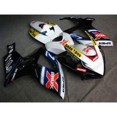 Suzuki GSX-R 600/750 2006-2007 K6 Injection ABS Fairing - Dark Dog - Black/White | $679.00
