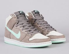 Nike SB Dunk High Pro – Soft Grey/Medium Mint