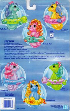My Little Pony Baby Sea Ponies Backcard
