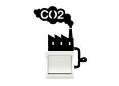 Naklejka pod gniazdko / wyłącznik / kontakty-CO2