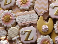 Pink and Gold Chevron Baby Shower | Cookie Connection