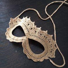 Crochet Lace Masquerade Mask - Free Pattern | Beautiful Skills - Crochet Knitting Quilting | Bloglovin'