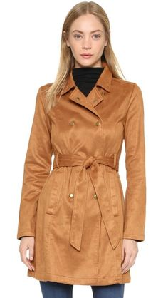 re:named Suede Trench Coat, $95 via shopbop
