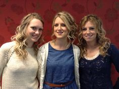 3 sisters, all with a braid detail and waved with a wand for beachy relaxed style - Hair by Jac