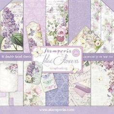 1 Set Scrapbooking Papier 30 x 30 cm lilac flowers | eBay