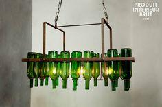 Décoration et Luminaire - Lustre à bouteilles - produit interieur brut -