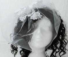 White birdcage veil white tulle birdcage by AnitaHiltonweddings, £26.00