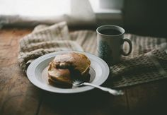 another grey morning Pumpkin Pancakes & Coffee The Breakfast Club, Morning Breakfast, Morning Coffee, Pancake Breakfast, Pumpkin Pancakes, Aesthetic Food, Recipe Of The Day, Food Styling, Food Photography