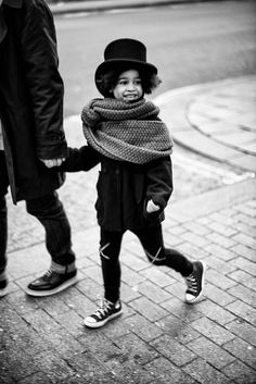 Flipping adorable!! Love the pants, hat & scarf combo  © quirky collective
