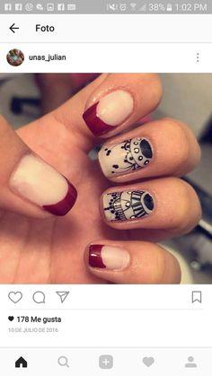 Magic Nails, Lace Nails, Enamels, Nail Polish Colors, Nail Designs, Make Up, Daughter, Nail Art, Hand Painted