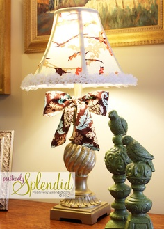 Positively Splendid ~ How to Recover a Lampshade via @splendidamy
