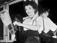 Judy clowning around backstage on Easter Parade 1947
