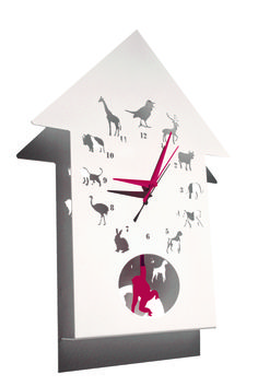 Animalask clock by Polly Westergaard. Pols haven't you got any more of these?