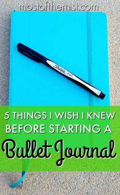 5 coisas que eu gostaria de saber antes de começar um bullet journal.