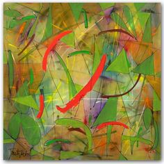"""Improv Two, 48"""" x 48"""" limited edition giclee print on canvas, ready to hang at ARTBYLT.COM $950"""