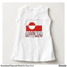 Greenland Flag and Word Tee Shirts