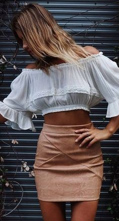 #summer #mishkahboutique #outfits | White + Tan