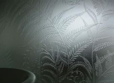 Decorative Partition Wall Decorative Acid Etched Glass