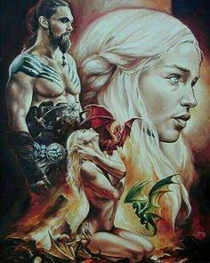 Game of Thrones art Dessin Game Of Thrones, Arte Game Of Thrones, Game Of Thrones Artwork, Game Of Thrones Dragons, Game Of Thrones Fans, Khal Drogo, Winter Is Here, Winter Is Coming, Familia Targaryen