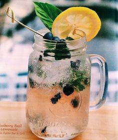 Blueberry Basil Lemonade- Stoli Blueberi Vodka, Square One Basil, muddled blueberries, fresh basil & lemon.