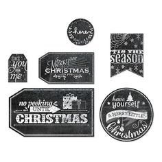 LOVE these chalk-board style tags you can print from Stampin' Up!