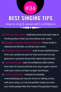Vocal Lessons, Singing Lessons, Singing Tips, Music Lessons, Singing Training, Vocal Training, How To Get Confidence, Confident Body Language, Music And The Brain