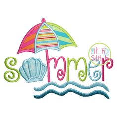 Summer Applique Design For Machine Embroidery by TheItch2Stitch