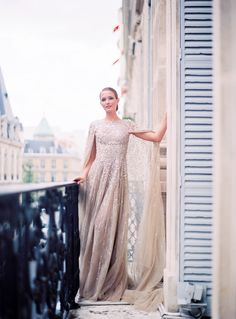 Bridal Gown by Krikor Jabotian. Photo by Le Secret d'Audrey Paris. www.theweddingnotebook.com