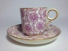 🔵 Royal Worcester ~ W 1104 Pattern Purple Floral Demitasse Cup & Saucer Tea Cup Set, Tea Sets, Elegant Table Settings, Royal Tea, Pink Cups, Chinese Ceramics, China Sets, Vintage Dishes, Antique Shops
