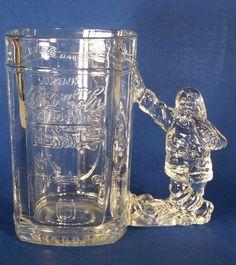 Coca Cola Large Glass Mug 18 oz Santa Handle Vending Machine Vintage 1997 Coke #CocaCola