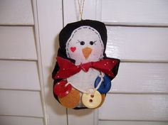 Handmade Fabric Penguin Ornament by CozyExpressions on Etsy, $5.00