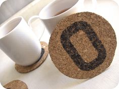 Craft Project: Personalized Cork Coasters