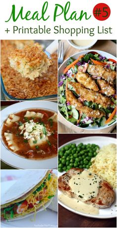 Weekly Meal Plan and Printable Shopping List including some of my favorites like Applebee's Oriental Chicken Salad and 15-minute Creamy Mustard Pork Chops. Recipes from Tastes Better From Scratch