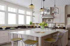 Granite Kitchen Worktops and Quartz Kitchen Countertops Quartz Kitchen Countertops, Granite Kitchen, White Kitchen Cabinets, Kitchen Worktops, Marble, Kitchen Ideas, Furniture, Home Decor, Off White Kitchen Cabinets