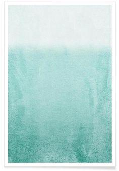 Fading Aqua als Premium Poster von Monika Strigel | JUNIQE
